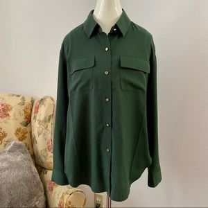 Juicy Couture Green Button Down Top